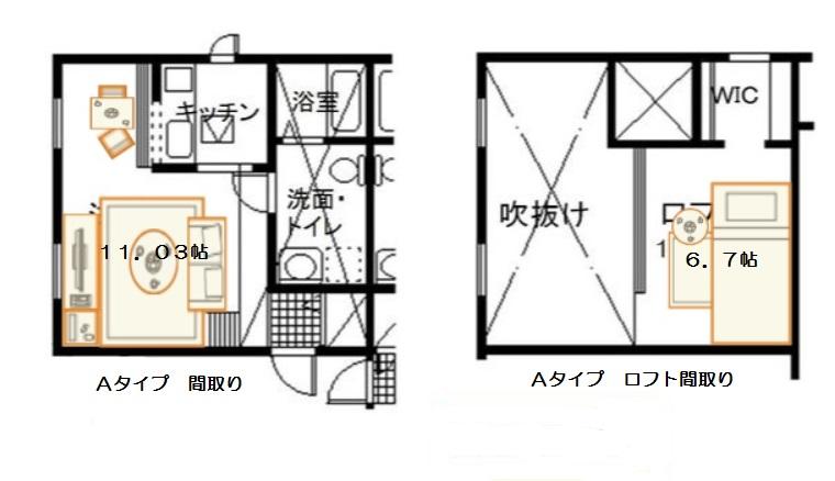 プリマカスターニャ宇都宮弐番館間取りAタイプ
